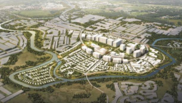 A proposal by Chinese developer Zhongren for the Maribyrnong Defence site would include up to 6000 homes. Photo: Li Mike