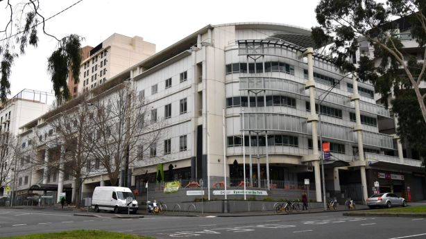 The former Peter MacCallum Cancer Centre in East Melbourne will soon become a housing development. Photo: Joe Armao