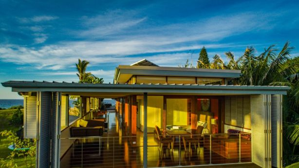 The opulent Byron Bay villa has separate guest accommodation. Photo: Supplied