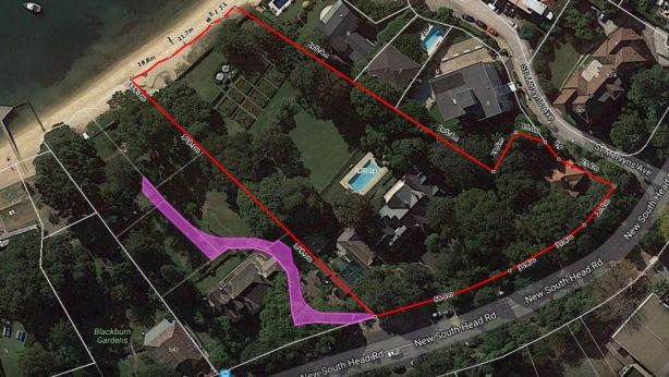 The Fairwater property's boundaries. Photo: Supplied
