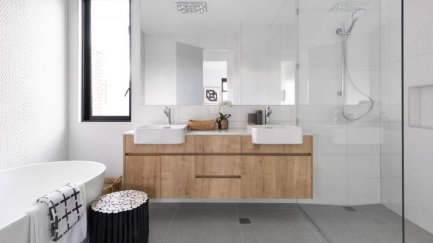 Achieving the right combination of lighting makes all the difference to your bathroom's functionality. Photo: The Real Estate Stylist