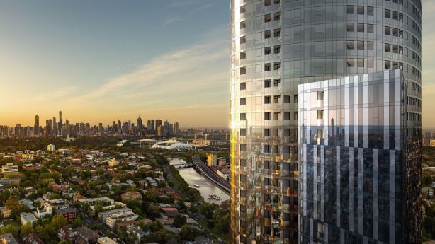 Three-bedroom apartments in Yarra One in South Yarra cost more than $1.2 million. Photo: Eco World