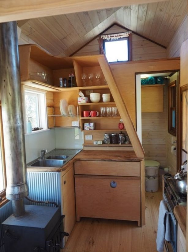 Fred Schultz's tiny house, which is now rented out on Airbnb. Photo: Fred's Tiny Houses