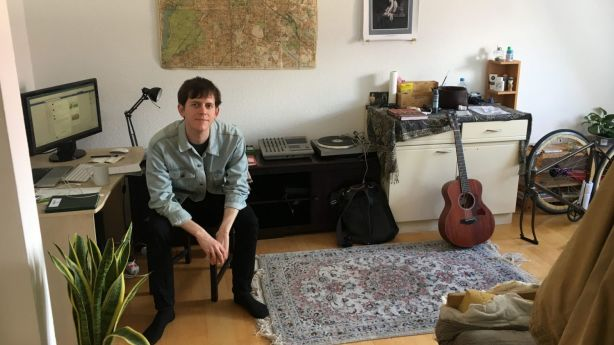 Joshua Frampton in his Friedrichshain home. Photo: Supplied