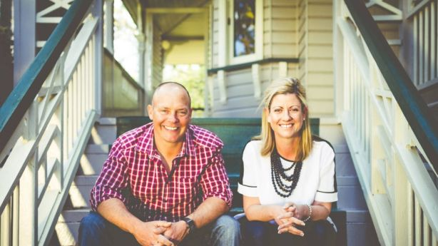 Adam and Nicole Cox, who are selling the Ipswich home that made Nicole's blog, The Builder's Wife, an internet success. Photo: David Phomsouvanh