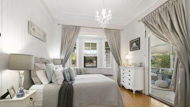 The home's serene master bedroom.