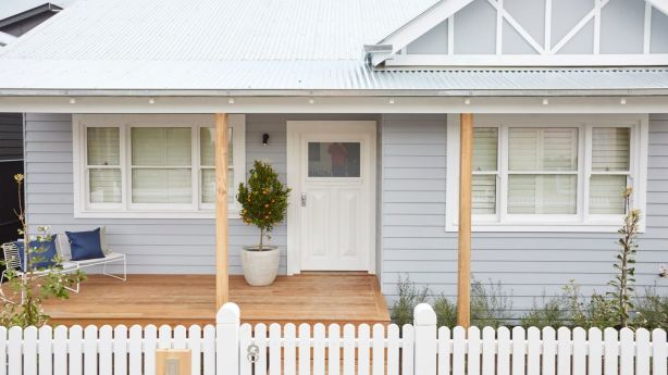 A professional house clean is an ideal way to kick-start your makeover. Sticks and Wombat's winning exterior. Photo: Channel Nine