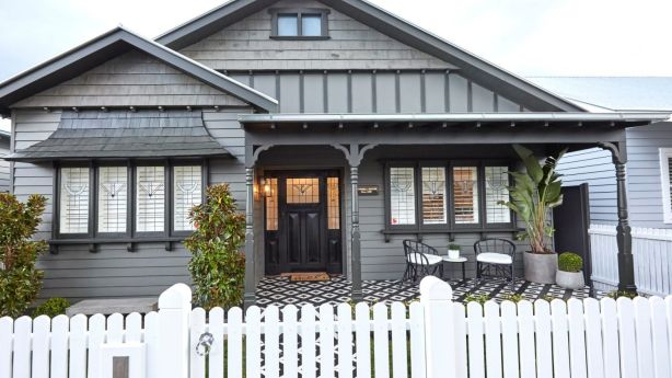 A beautiful exterior can transform any property into a welcoming family home. Ronnie and Georgia's house. Photo: Channel Nine