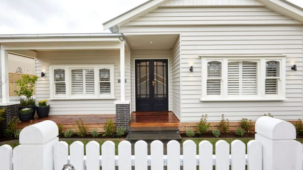 A revamped entry makes for a smart update. Jason and Sarah's house. Photo: Channel Nine