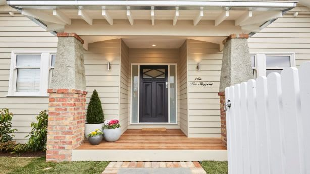 Effective exterior lighting should showcase key features of the house and garden. Josh and Elyse's house. Photo: Channel Nine