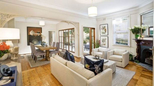 This renovated, three-bedroom, two-bathroom Victorian semi on Woollahra's Roslyndale Avenue, recently sold for a similar price to the licence plate.