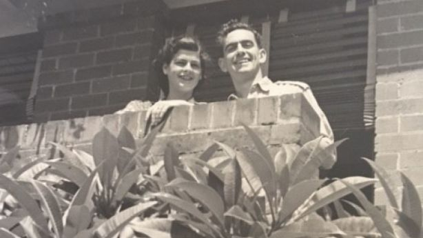 Edward Leigh Spencer and Grace Emmie Spencer – Simon Spencer's grandparents pictured at the house in 1926. Photo: Supplied