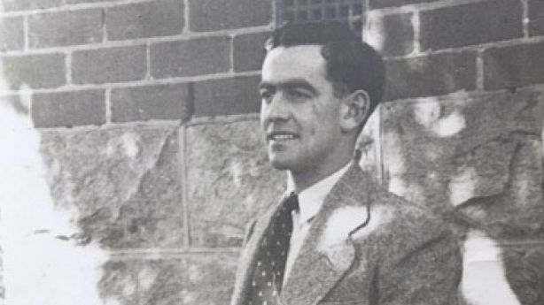 Simon Spencer's father at the property in 1946.