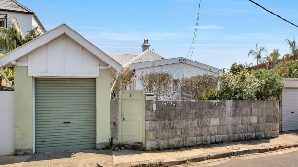 At 17 Victoria Street, Watsons Bay. Other homes on this stretch are known to sell for significant sums. Photo: BradfieldCleary