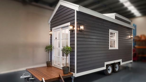 'The Hillside' model retails at $79,000. Photo: Tiny Homes Australia