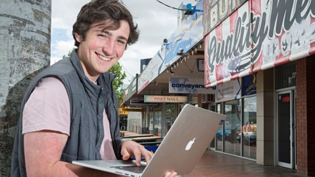 Cooper Watkins, 17, hopes to get into the property market soon. Photo: Michael Rayner