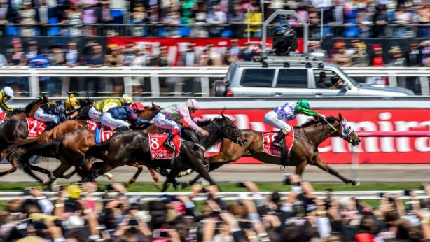 Michelle Payne rode Prince of Penzance into history in 2015 as the first female jockey to win the Melbourne Cup. Photo: Justin McManus