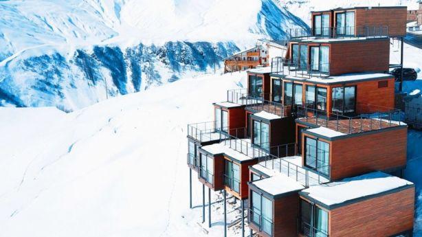 Quadrum Ski and Yoga Resort is located 2200 metres above sea level in the Caucasus mountain range in Georgia. Photo: Quadrum Ski and Yoga Resort
