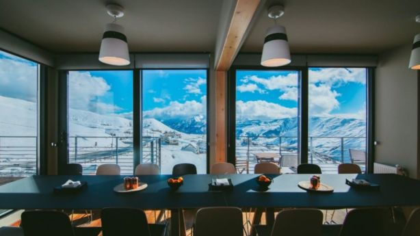 It doesn't matter whether you prefer apres ski or the black diamond run – this place is luxurious. Photo: Quadrum Ski and Yoga Resort
