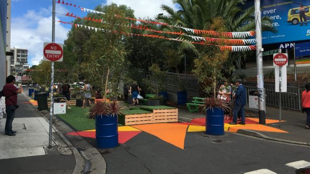 Jonas Street Pop Up Plaza was part of City of Yarra's Pavement to Parks program. Photo: Supplied