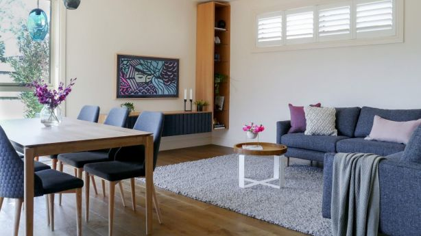 After: A Scandinavian vibe with contemporary furniture choices worked well for the small space. Photo: Photo: Kate Hansen - The Room Illuminated. Styling: Michelle Hart and Zarina Fernandez