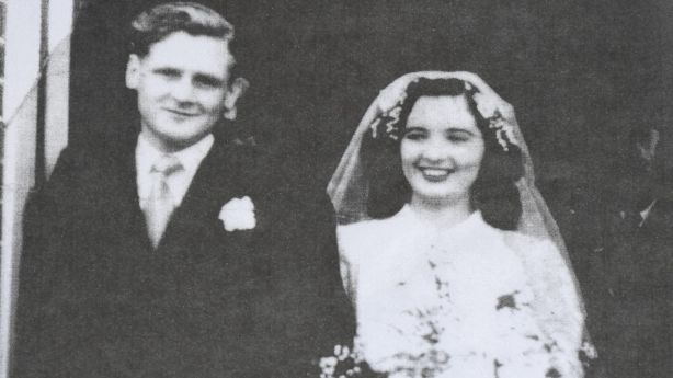 Noel and Phyllis Haverfield, the original owners of 17 Woodward Street, on their wedding day in 1947. Photo: Supplied.