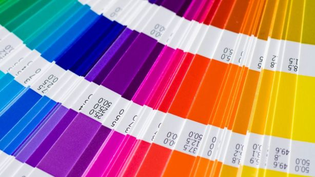 open Pantone sample colors catalogue Photo: iStock