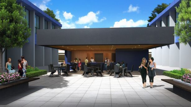 An artist impressions in 2014 of student facilities at a proposed multi-million dollar plan to  transform the old Watson high school site into a education precinct. Photo: supplied