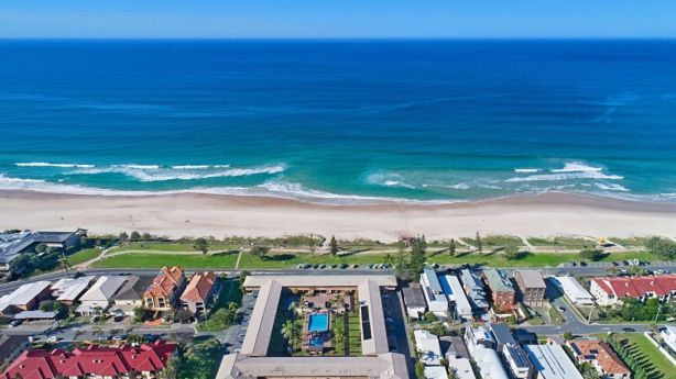 Nobbys Outlook resort at Miami Beach on the Gold Coast sold under the hammer for $23.75 million this year. Photo: Supplied