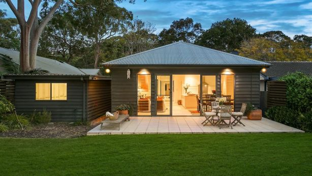 Toni Collette and her husband Dave Galafassi and Collette's parents Judith and Bob have sold their Pearl Beach weekender. Photo: Supplied