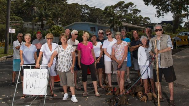 Residents are fed-up of the overcrowding and say Hyams Beach has turned from a place of coastal calm, coastal chaos. Photo: Louise Kennerley