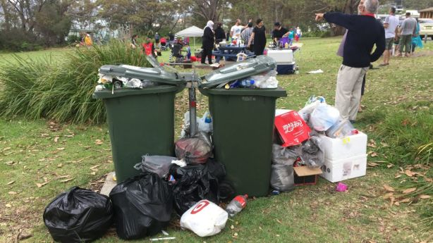 Many tourists come for the day, but leave plenty of rubbish behind. Photo: Supplied.