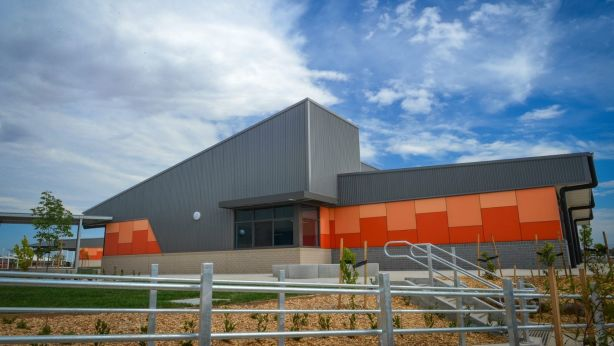 About to open in coming weeks is Bannockburn's new secondary school, in response to a growing population. Photo: Reg Ryan
