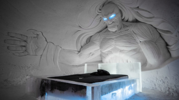 HBO Nordic has partnered with Lapland Hotels, commissioning international ice artists to build a temporary Game of Thrones themed hotel in Finland. Photo: Lapland Hotels