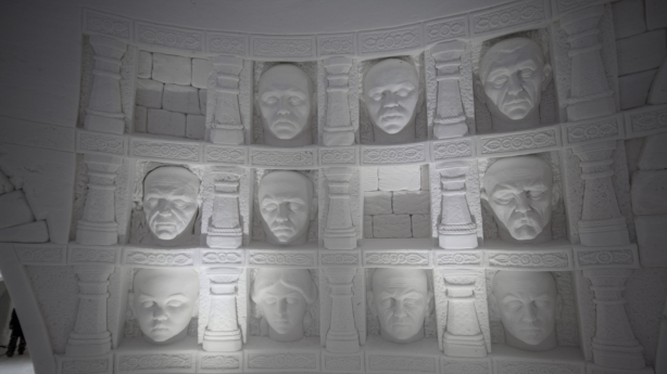 The hotel also features a carving of Braavos' Hall of Faces, in case you need a spare face. Photo: Lapland Hotels
