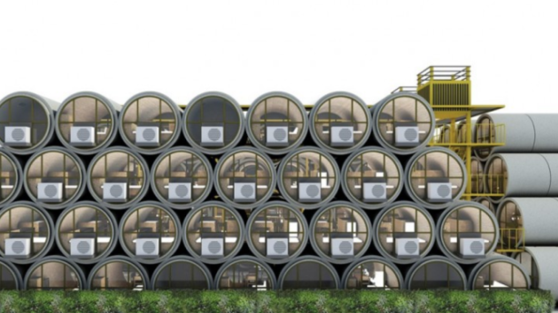 'OPod Tube' micro-homes made of drain pipes