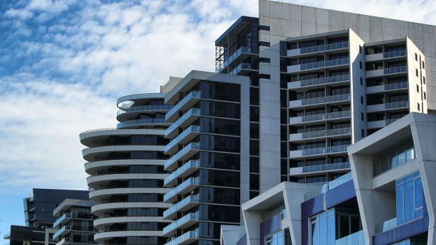 An over supply of apartments in Melbourne's CBD could cause unit prices to cool, experts say. Photo: Graham Denholm