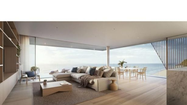 A render of a spacious apartment at Pacific Palm Beach. Photo: Supplied