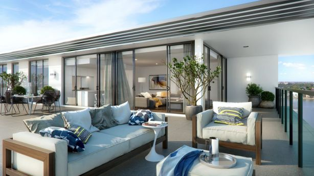The new development offers waterside living at an affordable price. Photo: Supplied
