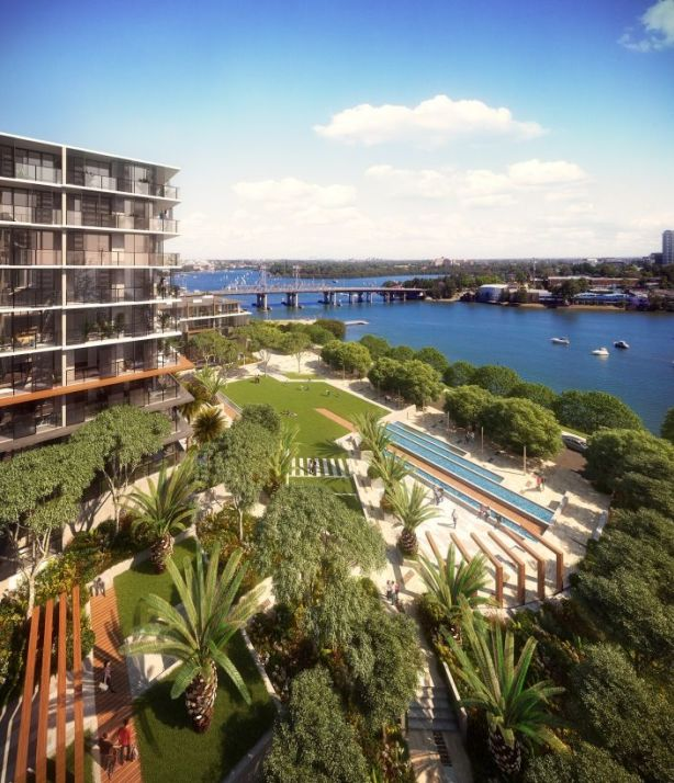 The apartments were designed to take in panoramic view of the river. Photo: Supplied