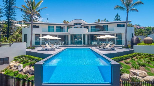 Dream beach home: The house sits on a 3595 square metre site. Photo: Supplied
