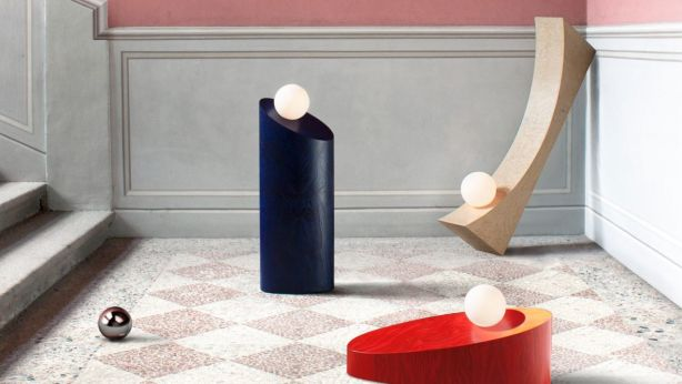 In the Shadow of a Man lighting collection by Child Studio.<br /> The curve, colours and flow of this grouping are playful, artistic and current. Photo: Supplied