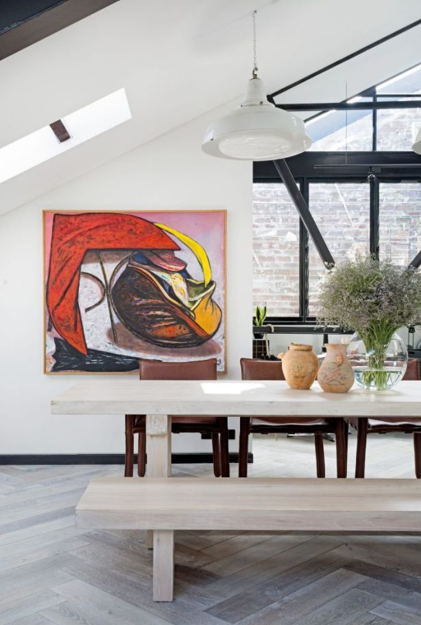 Sunshine pours into the massively-proportioned living area through skylights. Photo: Felix Forest