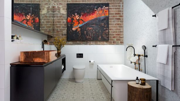 This bathroom has ample storage and wow factor in spades. Photo: Felix Forest
