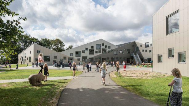 The Skovbakke School in Odder, west of Copenhagen, is clever and functional. Photo: Adam Mørk