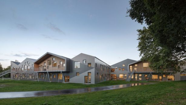 The school was designed by architects CEBRA and replaced a series of older buildings. Photo: Adam M?rk