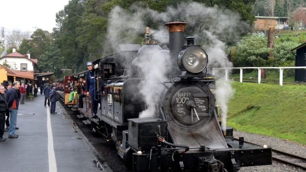 Watch your legs: Puffing Billy is Belgrave's biggest drawcards but there's a whole lot more on offer. Photo: Justin McManus