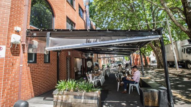 Cafe Meadow has opened in Odger's Lane – the laneway of the Melbourne building. Photo: Karleen Minney