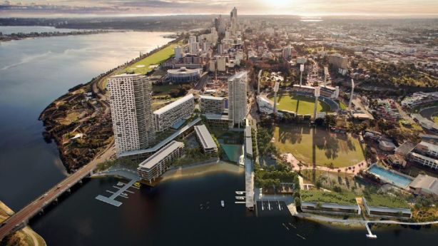 East Perth is being changed by a combination of public and private investment.