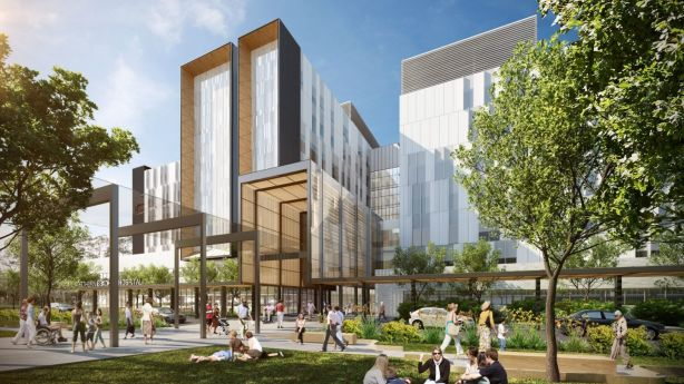 An artist's impression of the Northern Beaches Hospital, which Knight Frank predicts will help boost the area's appeal to high net-worth individuals. Photo: Liz Hannan